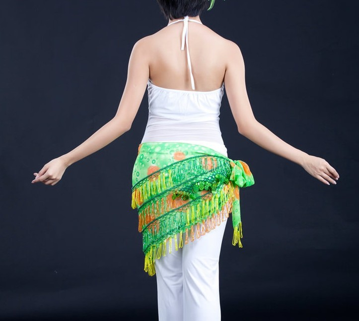 Green Belly Dance Scarf Wrap Skirt Wholesale