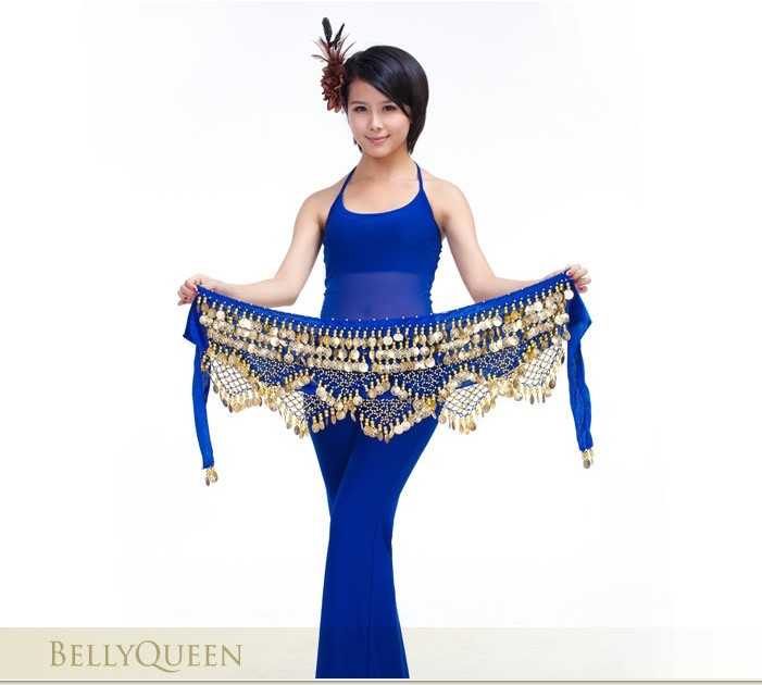 Gem waves Belly dance Belt Hip Scarf Wrap Costume Skirt