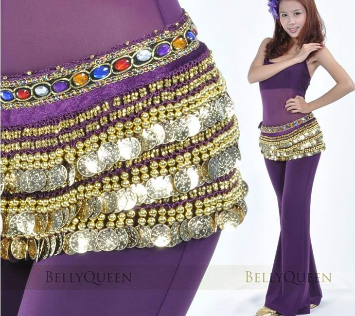 Gem velvet belly chain Belly dance Belt Hip Scarf Wrap