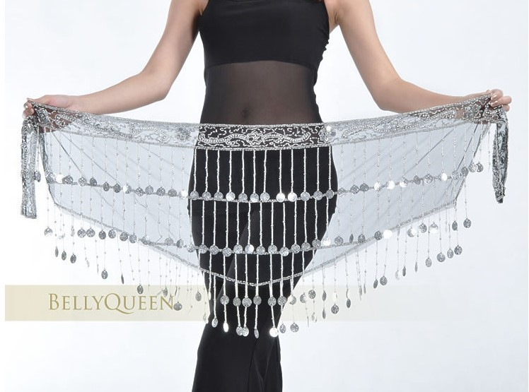 Egypt Style Belly Dance Hip Scarf Professional Dancing Belt