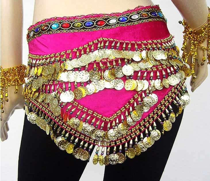 SEO_COMMON_KEYWORDS Gem belly dance gold coins hip scarf