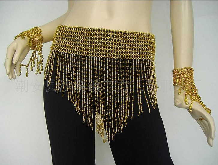 2 Belly Dance Wear Hip Scarfs Belt Outfit Fringe Tassels