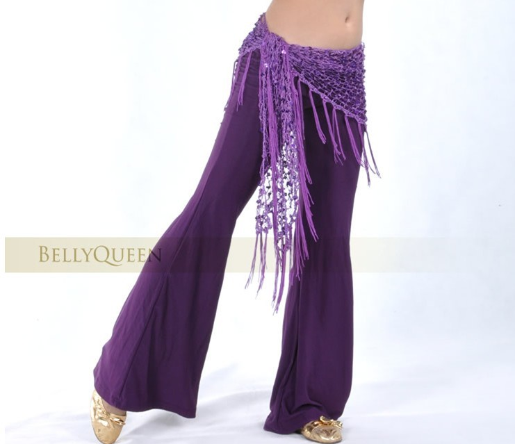 Belly Dancing Triangular Shawl Wrap Hip Scarf Purple