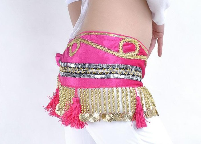 Newest style belly dance hip scarf wholesale Canada