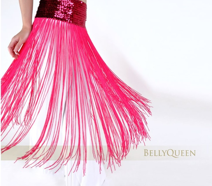Brilliance Belly Dance Costume Tassel Hot Pink Hip Scarf Wrap Be