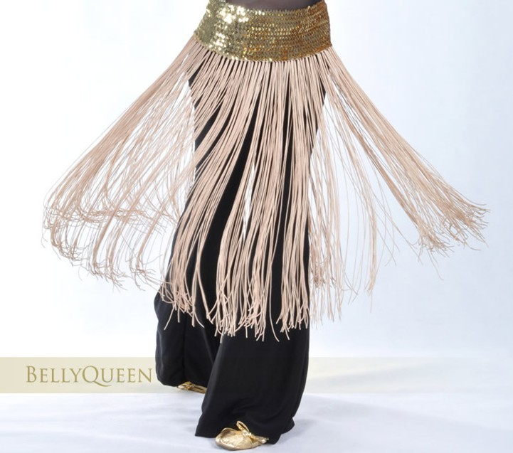 Brilliance Belly Dance Costume Tassel Black Hip Scarf Wrap Belt