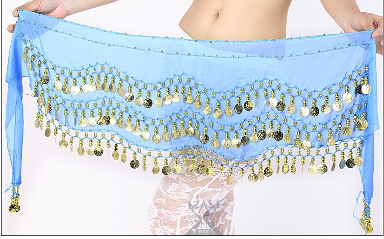 SEO_COMMON_KEYWORDS 2013 Belly Dance Hip Skirt Scarf Wrap Shining Coins Belt BABY BL