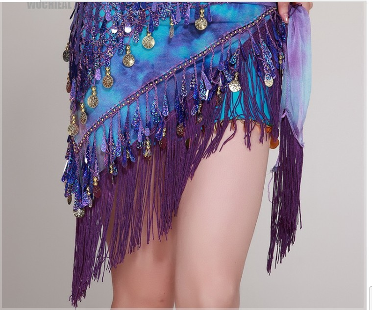 Triangle Hip Scarf Belt Belly Dance Costumes handmade