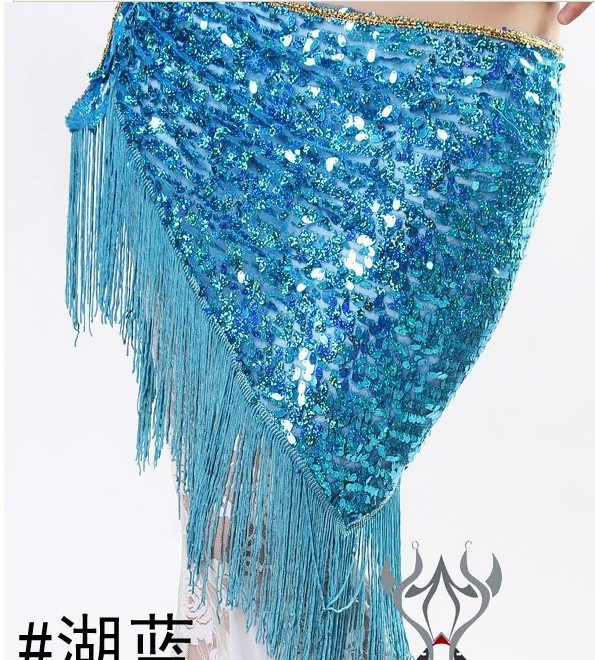 Newest design belly dancing scarf wholesale blue