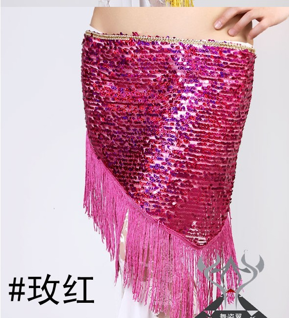 Newest design belly dancing scarf wholesale hot pink