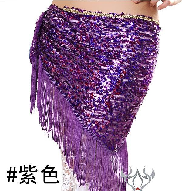 Newest design belly dancing scarf wholesale pruple