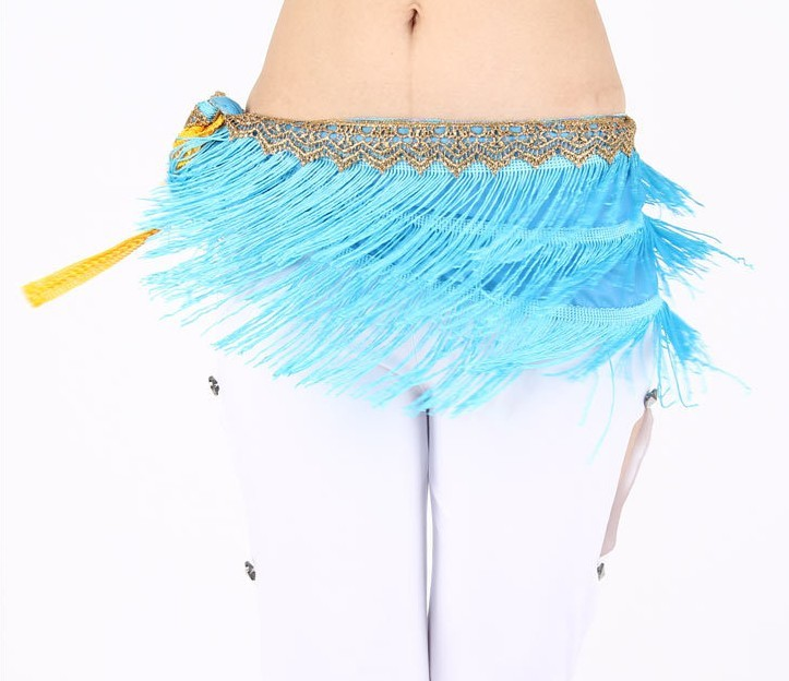 Newest design belly dancing skirt wholesale blue