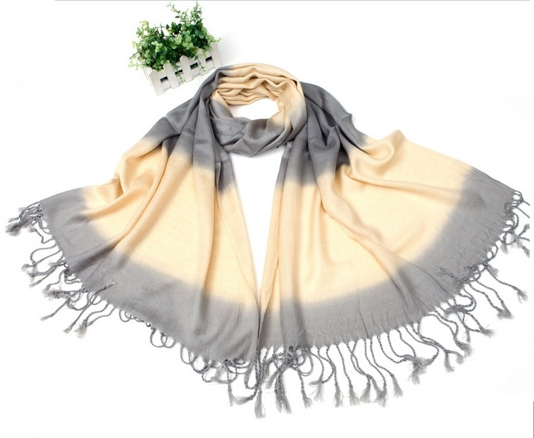 Cheap Pashmina Scarf with tone colors pattern
