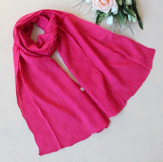 051 Cheap plain color cottton scarf