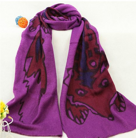 053 Cheap Knit Polyester scarf for winter - Click Image to Close