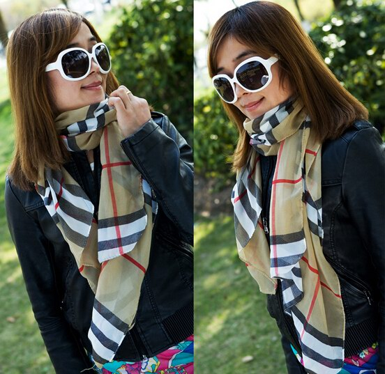 0061 Low price classic pattern scarf for lady