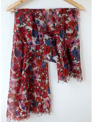 0071 Flower Viscose/Cotton Scarf On sale [Cheap 071]