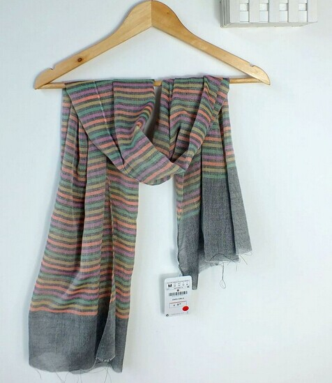 0093 Scarves with Colors Stripes