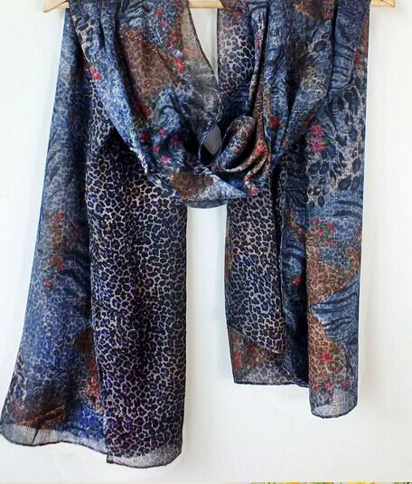 0098 Fashion Leopard Print Scarf For Women