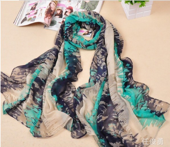 Fashion silk chiffon scarf wholesale