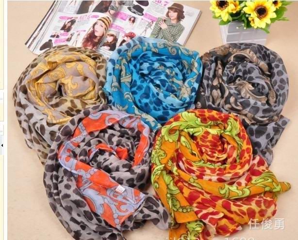 Wholesale Silk Chiffon Printed Scarves UK - Click Image to Close
