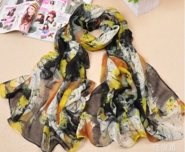 SEO_COMMON_KEYWORDS Wholesale Women's Fashion Silk Chiffon Scarf low price