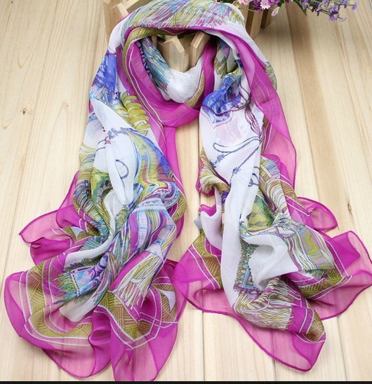 Big Size CHIFFON058 Silk like Scarf