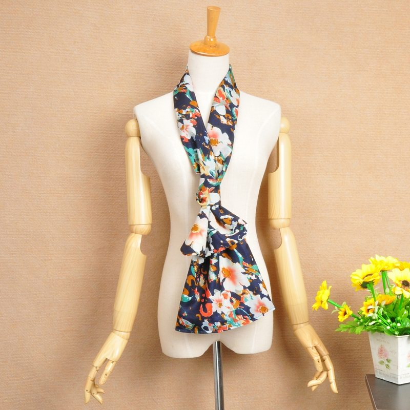 SEO_COMMON_KEYWORDS 15 Big Flowers Printing Chiffon Scarf For Spring