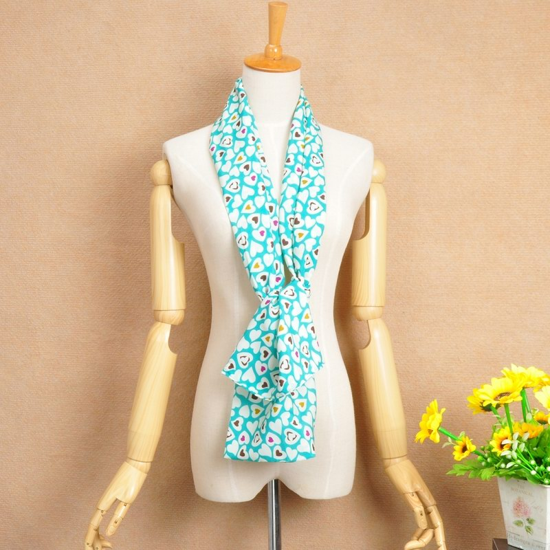 15 Colorful Heart Design Chiffon Scarf