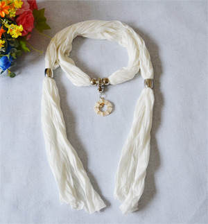 Pure White scarves wholesale Hongkong