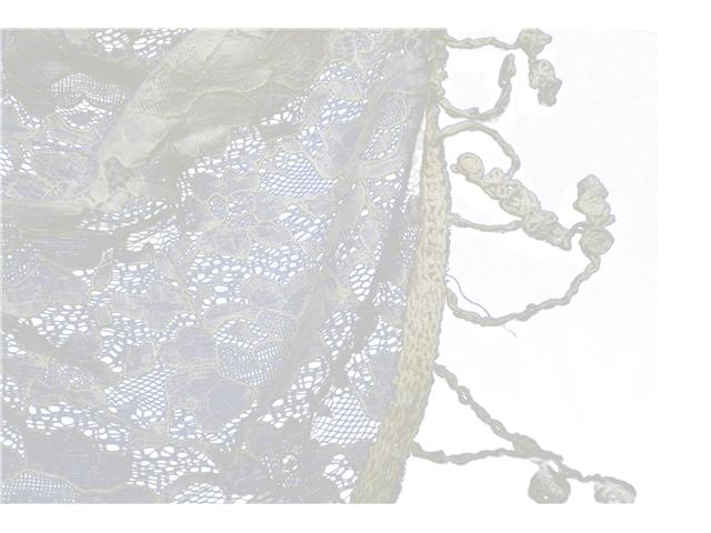 Cotton Lace Triangle Scarf