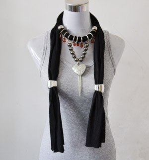 Black jewelry scarves bulk