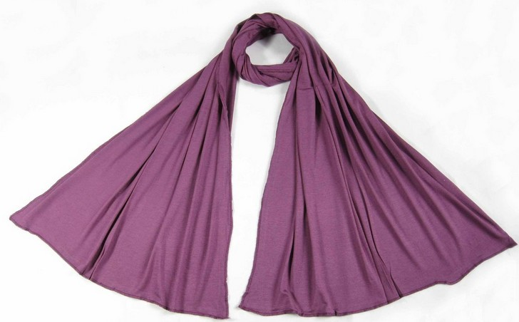 Top quality plain long jersey scarf and shawl/wrap Wholesale
