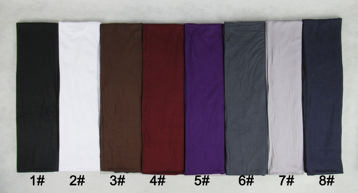 Top quality plain long jersey scarf and shawl/wrap Wholesale - Click Image to Close