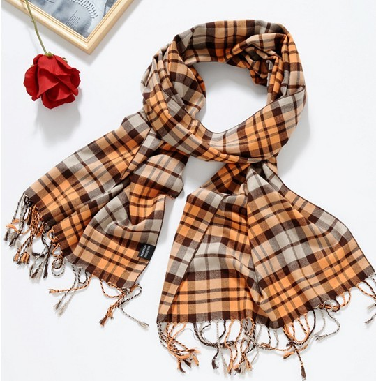 High Quality Cotton Check Scarves Wholesale Canada