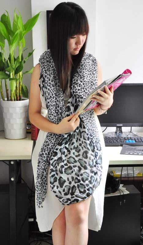 1 Women Zone Leopard print design Cotton Scarf On sale