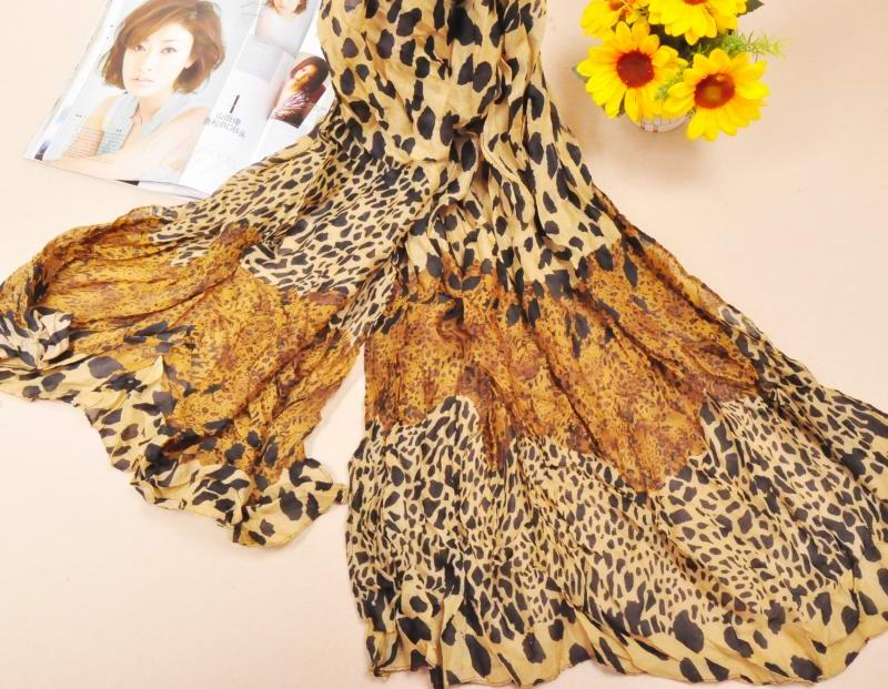 1 Leopard Print Designs Cotton Scarf Wholesale