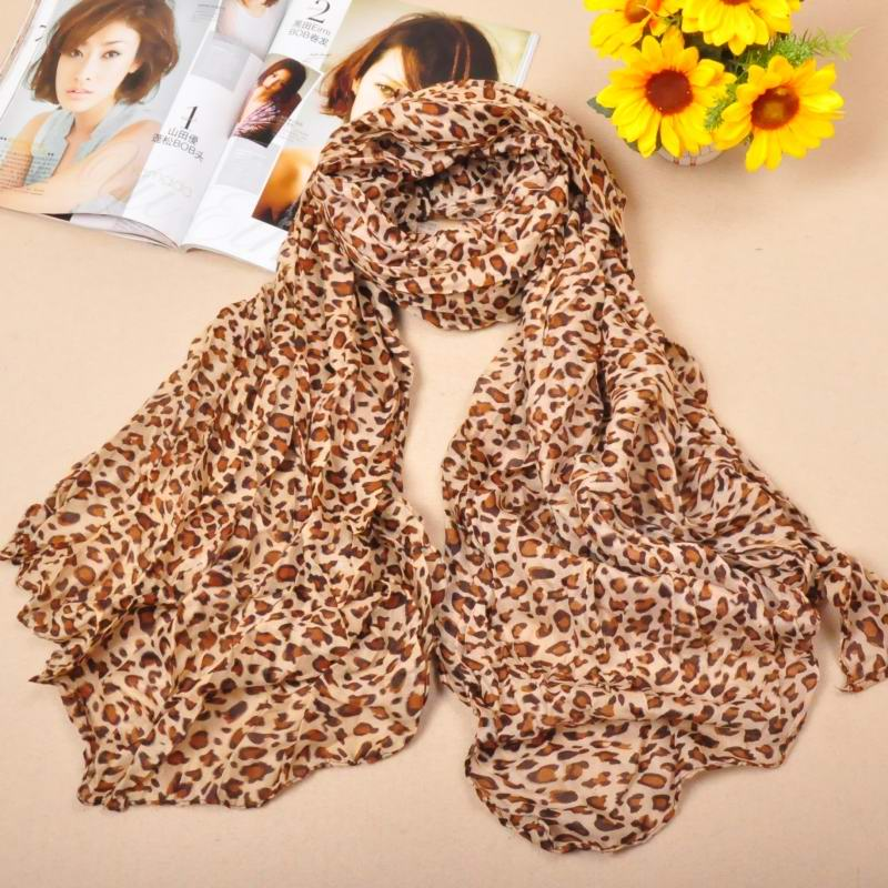 1 Animal Print Cotton Scarf Wholesale