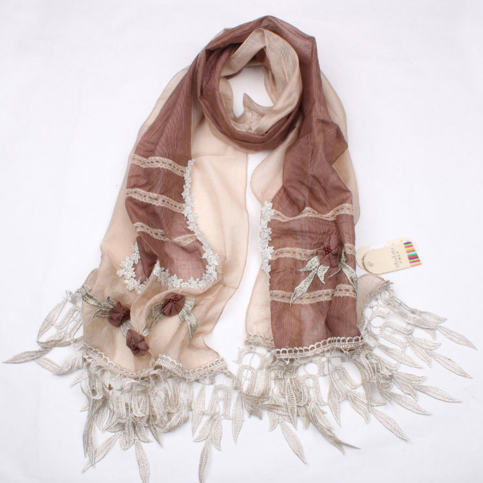 Flower Garden Scarf China wholesale