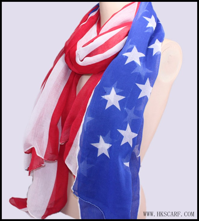 Scarf wholesale USA flag