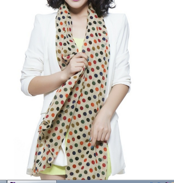 01 Fashion Scarf with the newest dot design