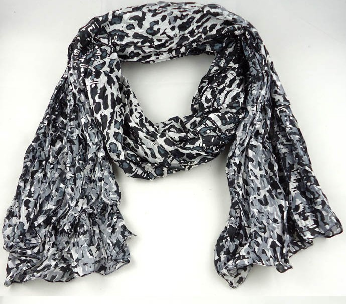 Leopard Print Silk Scarf/Wrap/Shawl Wholesale USA