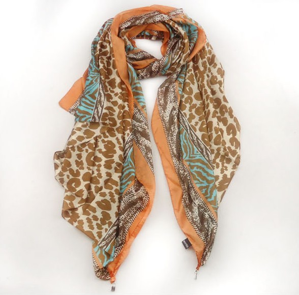 SEO_COMMON_KEYWORDS Fashion Leopard Print Silk Scarves/Wraps/Shawls Wholesale Austra