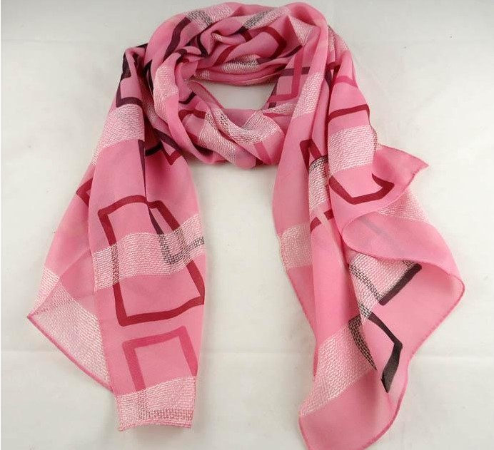 Pink Silk Scarf For Lady Fashion 2013