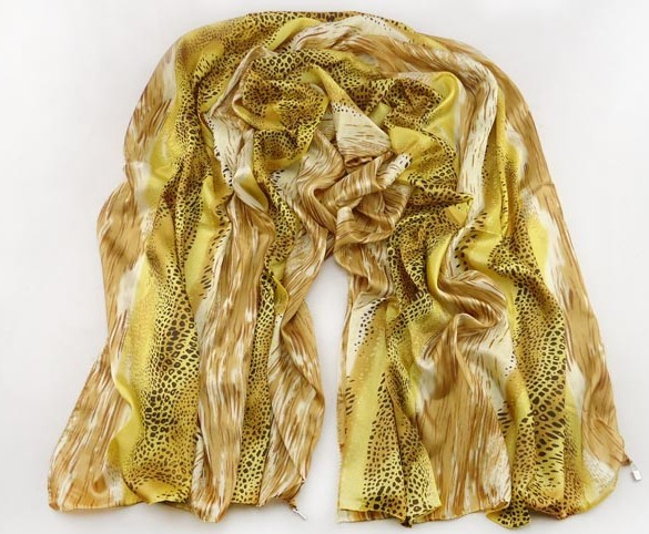 SEO_COMMON_KEYWORDS Golden Snake Skin Silk Scarf Discount USA