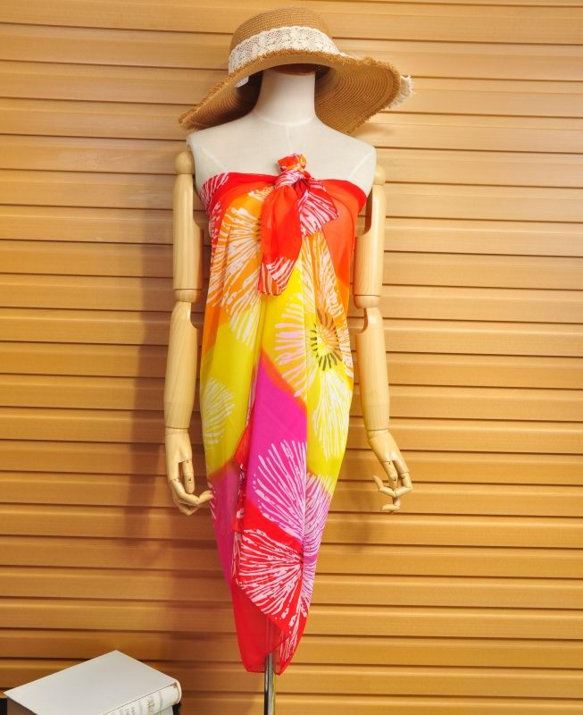 New Style Summer Fashion Beach Silk Beach Scarf Printed For Wome