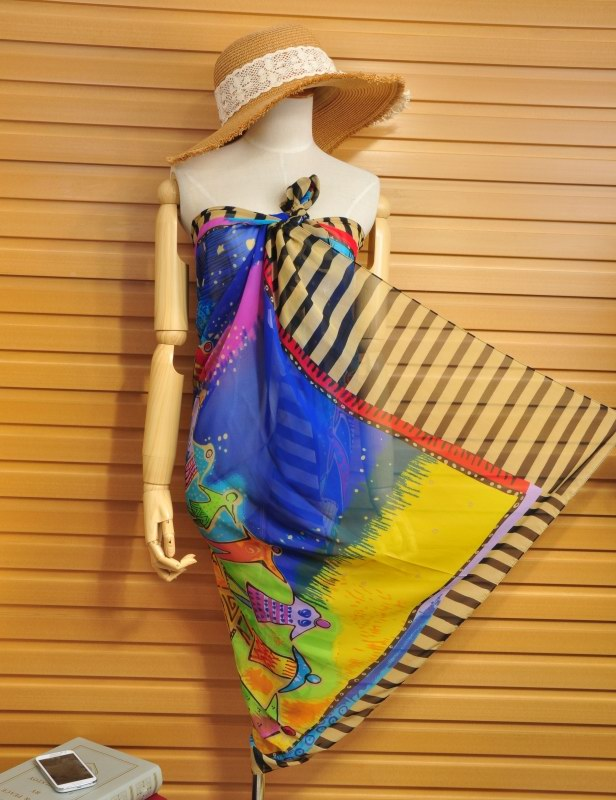 Fashion Beach Silk Scarf for Girls