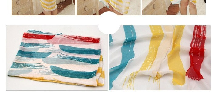 Colors Stripes Style beach scarfs singapore - Click Image to Close
