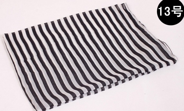 Black and White Stripe Beach Scarves wholesale