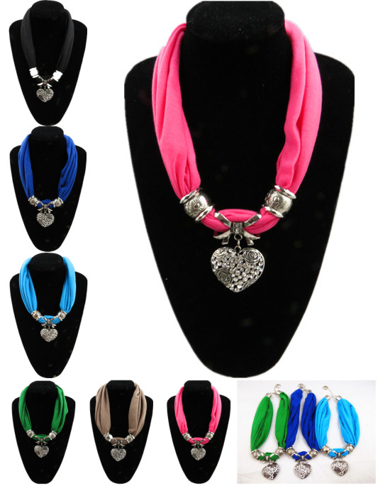 New fashion designs Bib Short Jewellery Scarfs With Alloy Bead H